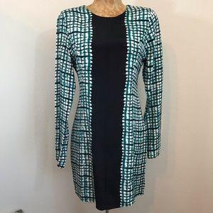 Parker 100% Silk Dress Size M Long Sleeve